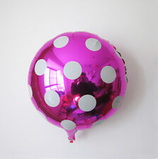 """18"""" Rose Round Big Polka Dot Foil Balloons For Wedding Birthday Party Decoration"""