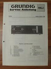 Musikgerät Sono-Clock 120 Grundig Service Manual Serviceanleitung