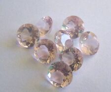 Natural Rose Quartz 8mm Round Faceted Cut 5 Pieces Top Quality Loose Gemstone