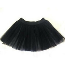 Black  tutu skirt tulle Petticoat Dance Fancy Party Clubwear Christmas Emo