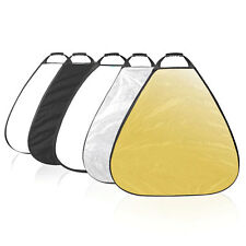5 in 1 Selens 39.4 Inch 100cm Triangle Potable Reflector Collapsible for Photogr