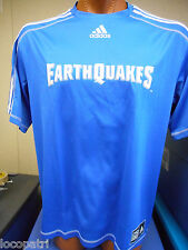 adidas MLS Mens San Jose Earthquakes Soccer Football Climalite Jersey NWT L