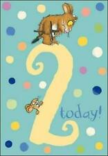 The Gruffalo's Child  Age 2/2nd Birthday Card - Blue