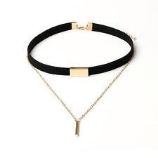 Black Necklace Velvet Choker Fashion Pendant Chain Of Gold Bar Chocker For Women