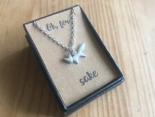 "Cute Silver Little Fox Necklace on ""Oh, For Fox Sake"" Card New in Gift Box"