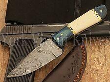 CUSTOM HANDMADE DAMASCUS HUNTING / SKINNER KNIFE SK-922.BUY 2 GET 1 STEEL FOLDER