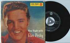RARE EP ELVIS PRESLEY - ONE NIGHT WITH ELVIS PRESLEY-EPA 9644-RCA GERMANY-TRICEN