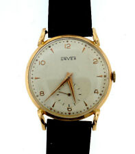 UNVER 18K ROSE GOLD WATCH LEATHER STRAP STAMPED MECHANICAL