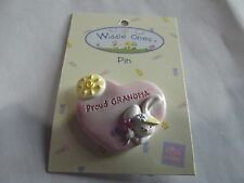 "Widdle Ones Clothes Pin Badge. ""Proud Grandma"". Handpainted. Free P&P"