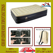 RELAX INFLATABLE HIGH RAISED AIR BED MATTRESS WITH BUILT IN ELECTRIC PUMP NEW