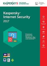 Kaspersky Internet Security 2017 1 PC / Geräte / 1 Jahr Vollversion