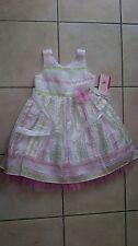 jona michelle party dress age 5 white/pink/green *BNWT*