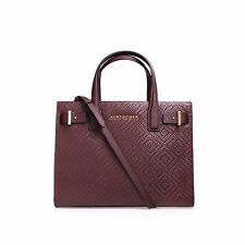 Kurt Geiger London WOVEN LONDON TOTE BAG Wine/Red RRP £240