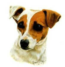 JACK RUSSELL Dog Heads in Two Poses. Each of 6.  TOTAL 12 x 6 in Fabric Squares