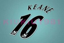 Manchester United Keane #16 PREMIER LEAGUE 97-06 Black Name/Number Set