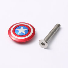 "Bicycle Stem Top Cap Headset Cover 28.6mm 1 1/8"" Steerer of Captain Logo"