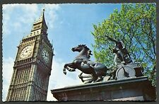 C1970's View of Boadicea Statue with Big Ben in the Background