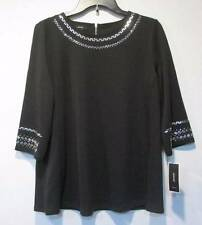 B7 NWT ALFANI EMBELLISHED SCUBA SWING TOP M