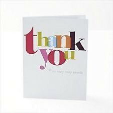 Multi colour Pack of 10 Thank You Cards By Carlton