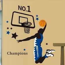 Basketball Player Dunk Sports Wall Decal Sticker Home Decor Vinyl Art Kids