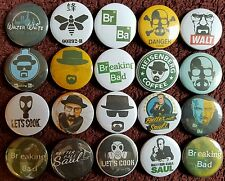 Breaking Bad & Better Call Saul Button Badges x 20. Pins. Collector. Bargain :0)