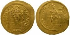 JUSTIN II 565-578 GOLD SOLIDUS CONSTANTINOPLE AD 567-578  4.52g/20mm / I /  R-36