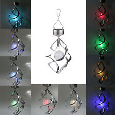 Solar Power light Wind Spinner LED Light Outdoor Garden Courtyard Hanging Lamp