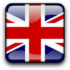 Framed print-bandiera britannica nello stile di un pulsante (foto poster arte mondo)