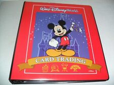 WALT DISNEY WORLD BINDER & EXPERIENCES TRADING CARD LOT OF (7) SHEETS 63 CARDS