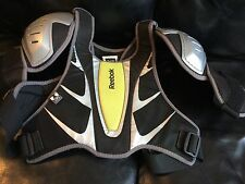 Reebok 3K Hockey Shoulder Pads Black Silver Green Small