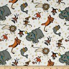 Hoffman Daphne's Circus k4105 3 White - Scattered Circus Animals SALE Cotton Fab