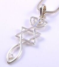 Messianic Seal Necklace Hebraic Roots Gold Grafted Star Of David Menorah Gift