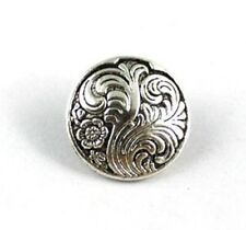 60PCS Tibetan silver round leaf button beads FC15358