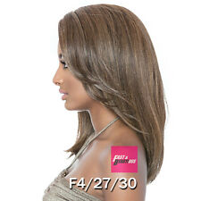 BSS202 ELLE- Brown Sugar Human Hair StyleMix Swiss Lace Front Wig Signature Part
