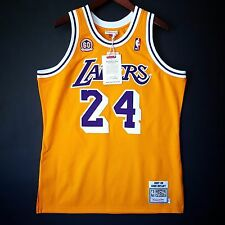 100% Authentic Kobe Bryant Mitchell Ness 60th Anniversary Lakers Jersey Sz 40 M