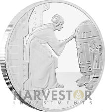 STAR WARS CLASSICS - LEIA - 1 OZ. SILVER COIN - ALL OGP & COA - FIFTH IN SERIES