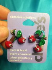 One Pair Of Claire's Googly Eyed Cherry Front And Back Earrings