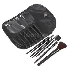 Cosmetic Brush Set 7 PCS Pro Makeup Brushes Set Kit + Pouch Case Bag Black