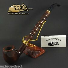 "Mr.Brog original LONG smoking pipe nr.15 brown ""Bent Albert "" Hand made in EU"