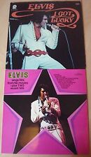 LOT DE 2  33T ELVIS PRESLEY-I GOT LUCKY / ELVIS SINGS HITS FROM HIS MOVIES
