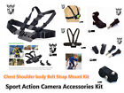 G14 Sport Action Camera Accessories kit Chest Shoulder body Belt Strap & Adapter