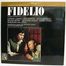 "BEETHOVEN FIDELIO LUDWIG VICKERS FRICK BERRY UNGER OTTO KLEMPERER 12"" LP (e840)"