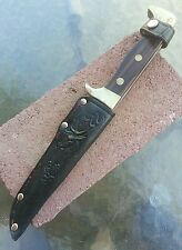 vintage C-I 582 Panther Japan hunting fixed blade knife w/ Germany sheath old