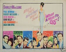 1964 WHAT A WAY TO GO 22x28 1/2SH ORIGINAL MOVIE POSTER PAUL NEWMAN MARTIN KELLY