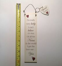 Lucky Nanas Wall Plaque Sign & Key Ring Gift Ideas for Mum & Her For Mothers Day