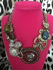 Betsey Johnson Woodland Creatures Princess Mouse Owl Fox Velvet Necklace $145