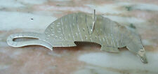 "Sterling Silver Brooch ARMADILLO Artsy Can Opener look 3.5"" - 15.7g Southwestern"