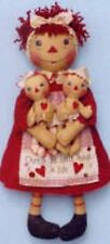 Primitive Pattern Annie's Little Raggedies A Mamma and Her Two Babies  LOOK!