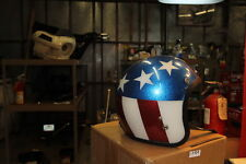 Captain America red white blue USA helmet 1960s Harley chopper FXR FXRT EPS17964