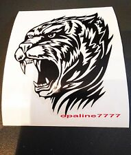 STICKER AUTOCOLLANT TIGRE TRIBAL TUNING AUTO CASQUE SCOOTER QUAD VITRE ARRIERE